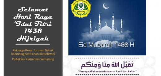 Selamat Hari Raya 'Idul Fitri 1438 Hijriyah